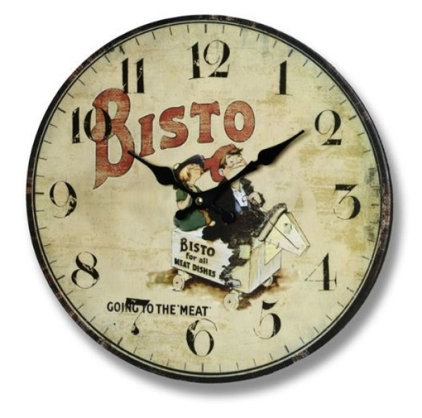 The Bisto Kids Retro Kitchen Wall Clock