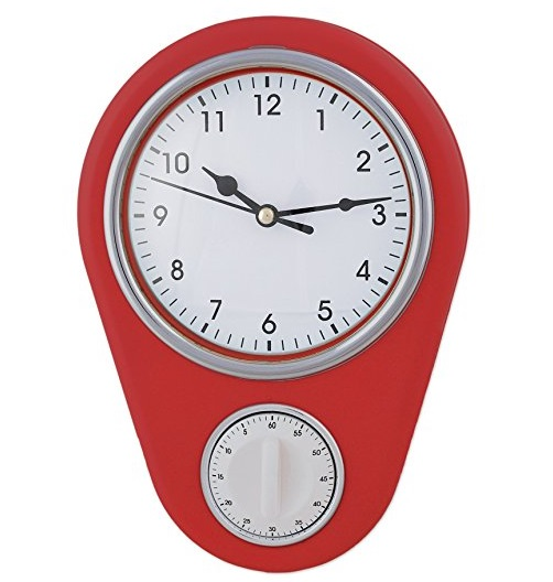 Kitchen Wall Clock With Built-in Timer