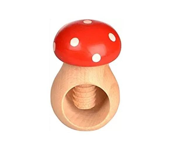 Wooden Toadstool Nutcracker by Wood'n it be nice