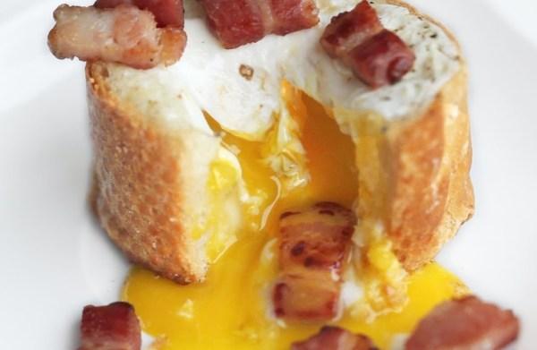 Egg & Bacon Baguette Nest