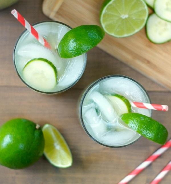 Sparkling Cucumber-Basil Limeade