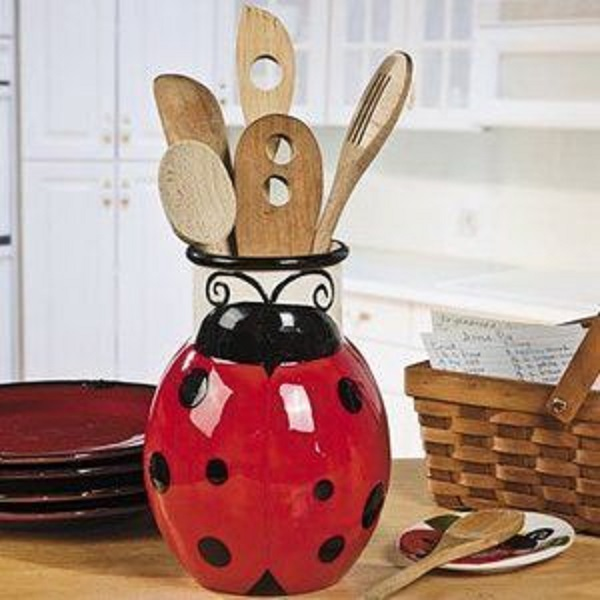 Ladybird Shaped Utensil Holder