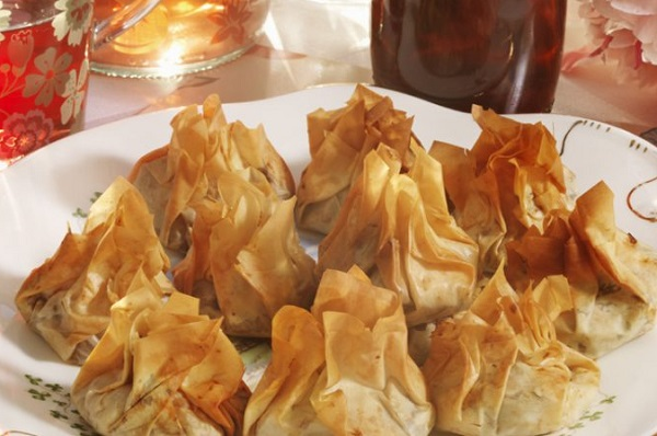 Pickled Red Cabbage Filo Parcels