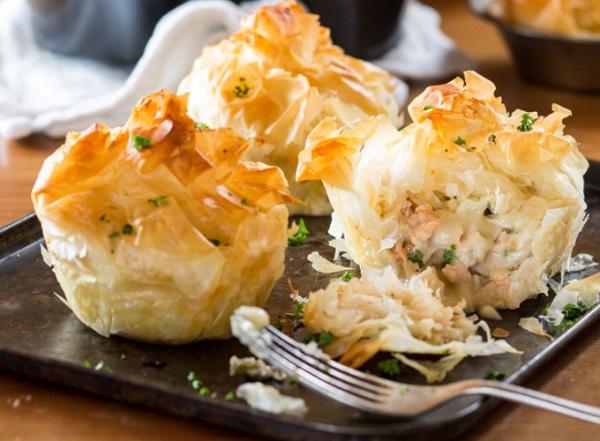 Seafood Filo Parcels