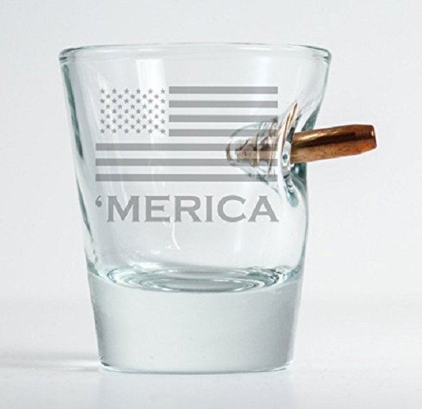 Original Bullet 'merica Shot Glass