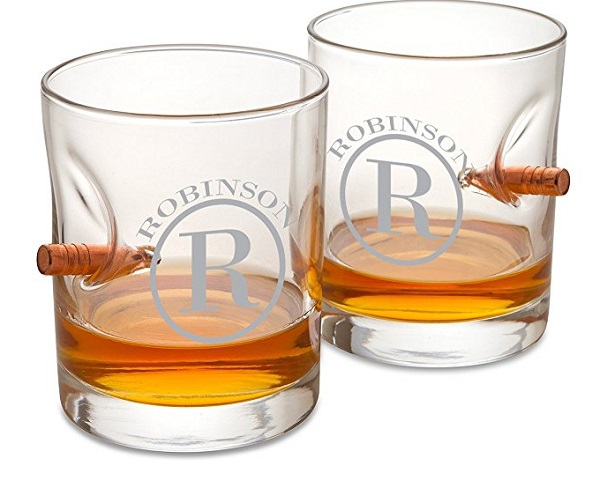 Personalized Lowball Bullet Whiskey Glass