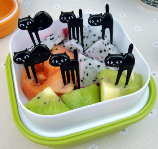 Black Cat Fruit Forks