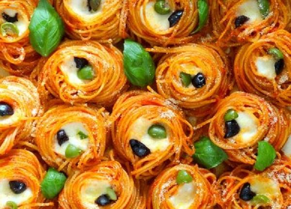 Crunchy Spaghetti Nests