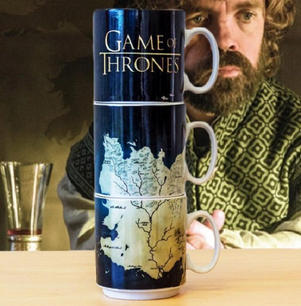 HBO Game of Thrones Westeros Map Stackable Mugs