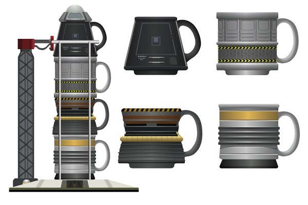 Kerbal Rocket Stackable Mugs