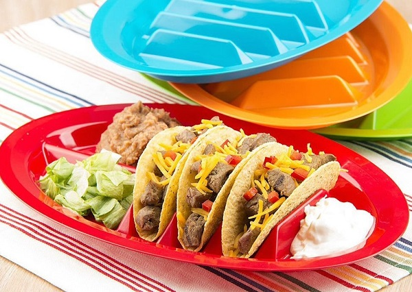 Plastic Serving Plate and Taco Holder