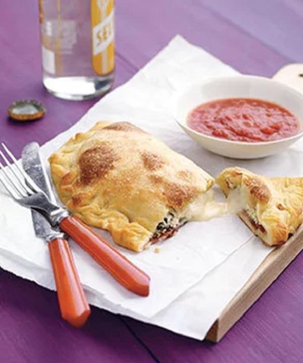 Three-Cheese Calzone