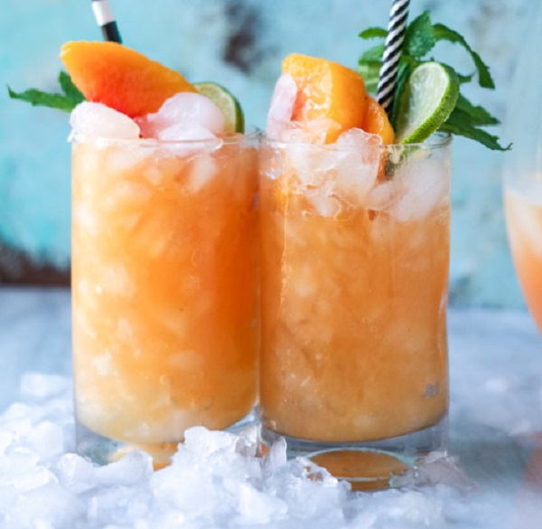 Non-alcoholic Pineapple Peach Agua Fresca