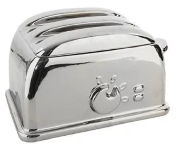 Ben De Lisi Silver Toaster-shaped Bread Bin