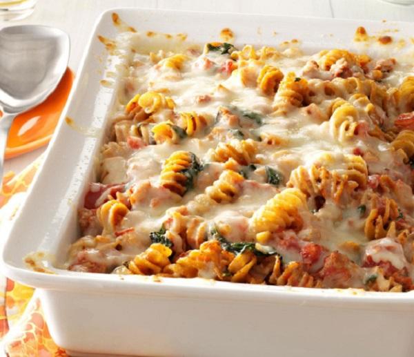 Sausage Spinach Pasta Bake