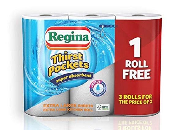 Regina Thirst Pockets Kitchen Roll
