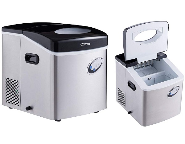 Costway Portable Steel Ice Maker Machine
