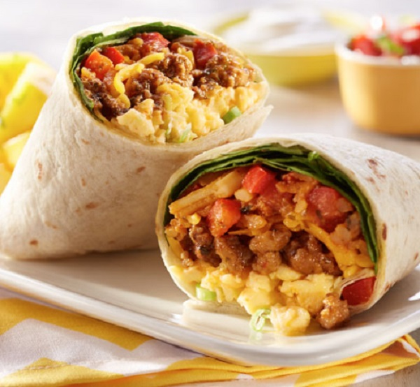Full-Loaded Breakfast Burritoes