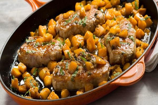 Sweet & Spicy Mango Glazed Pork Chops