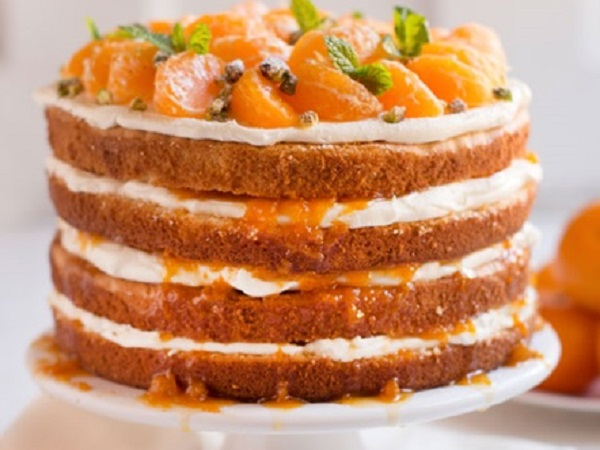 White Chocolate Mandarin Orange Cake