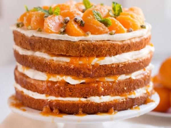 White Chocolate Mandarin Orange Cake