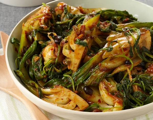 Bok Choy with Black Bean Sauce