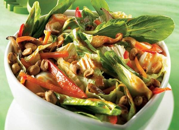 Bok Choy and Toasted Peanut Salad