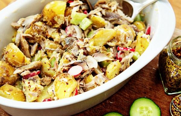 Pan-fried Mackerel and New Potatoes