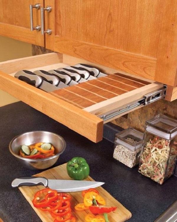 Under Kitchen Cabinet Knife Rack