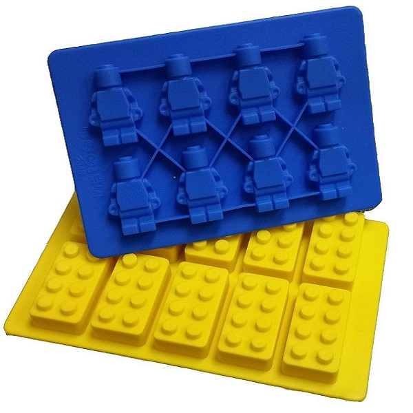 Lego Party Blocks And Robots Silicone Ice Cube Tray