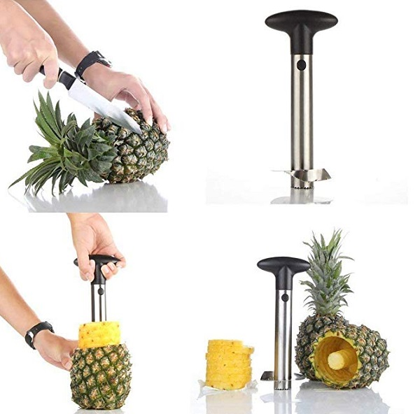 Stainless Steel Pineapple Corer, Slicer and Peeler