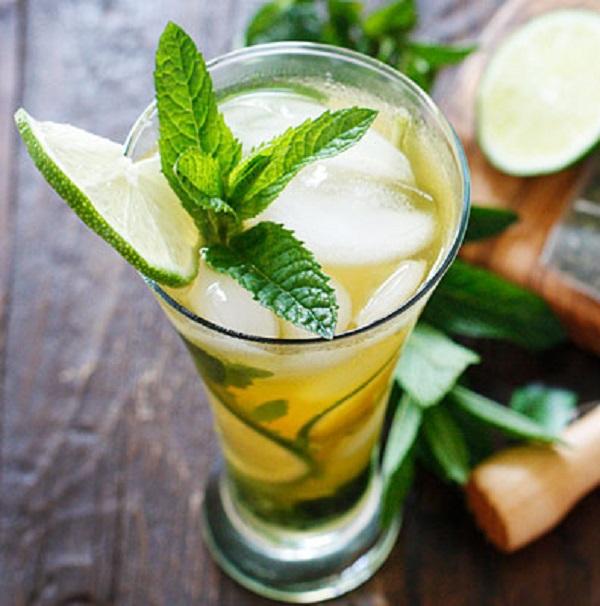 Iced Green Tea Mojitos