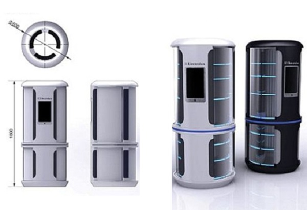 The Cylindrical Refrigerator By Axon