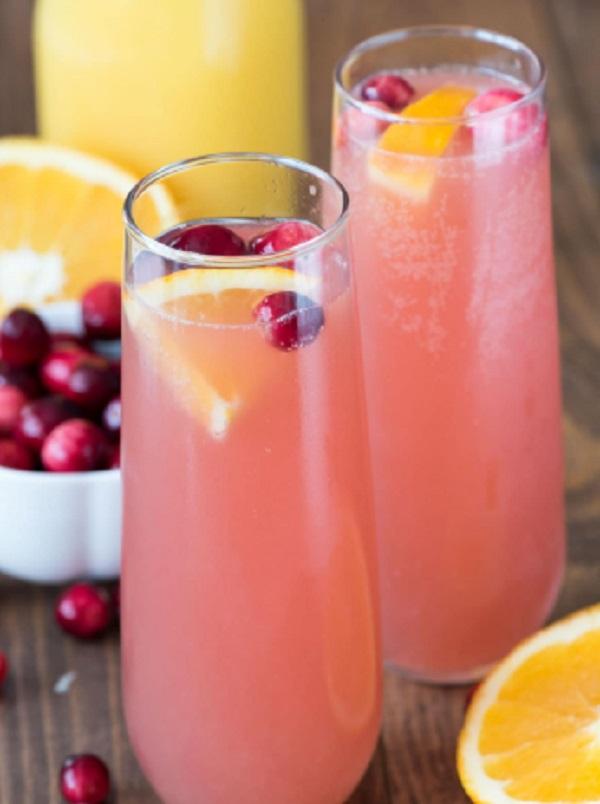 Cranberry Orange Mimosas