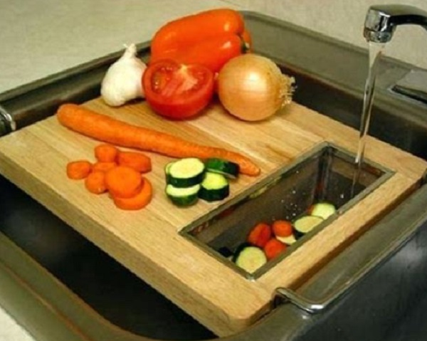 Sink Cutting Board (With Vegetable Washer)