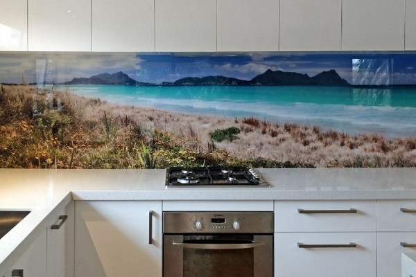 Beach Scene Kitchen Splashback Design