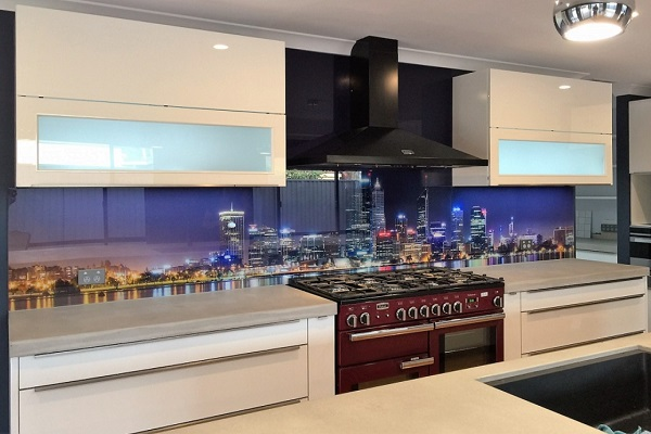 City Lights Picture Kitchen Splashback Design