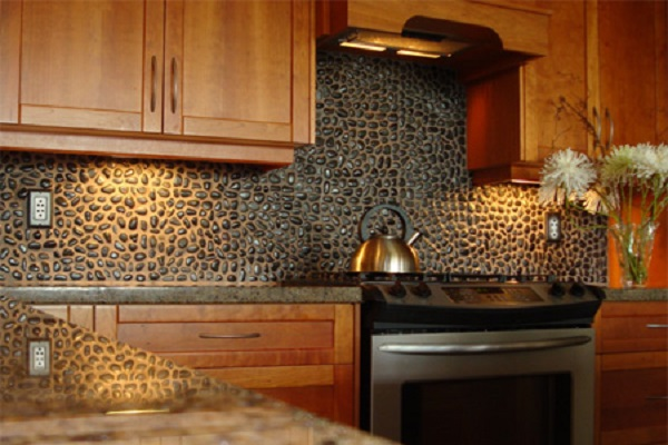 Pebble Kitchen Splashback Design