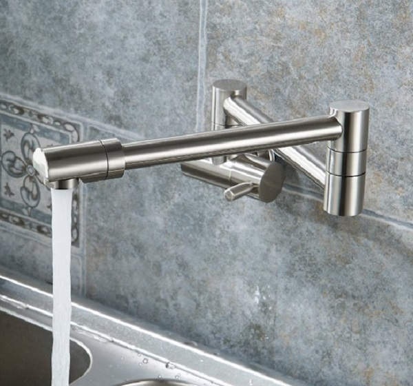 Puriscal Double Joint Wall Mounted Kitchen Tap