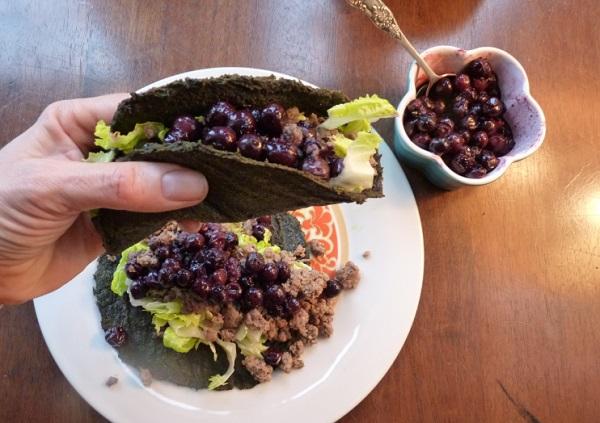 AIP Friendly Beef Tacos With Balsamic Blueberries