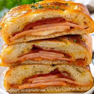 Italian Mixed Meats Stromboli