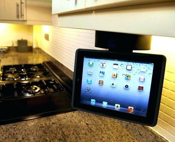 Rotating Under-cupboard Tablet Holder