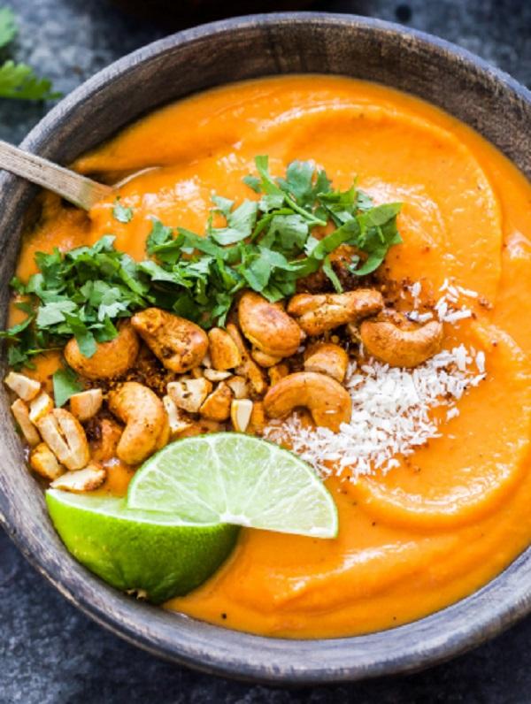 Thai Sweet Potato Carrot Soup