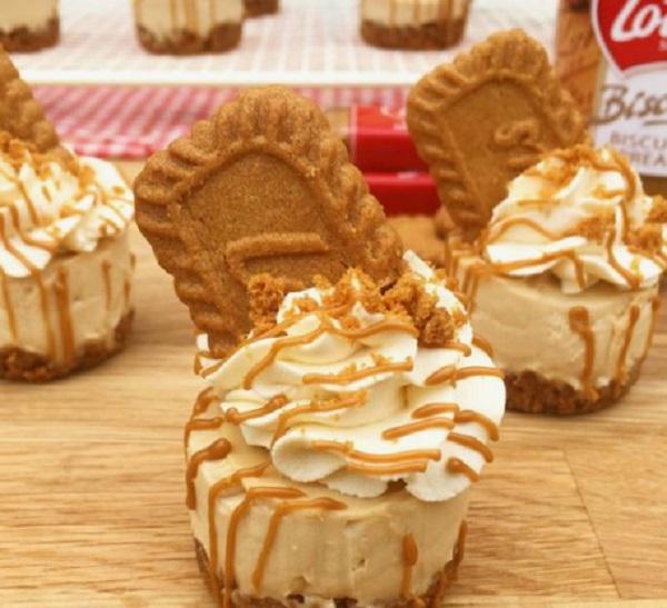 Lotus Biscoff Biscuit Cheesecakes