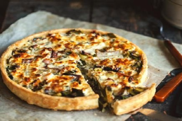 Soft Cheese and Vegetables Savoury Tart