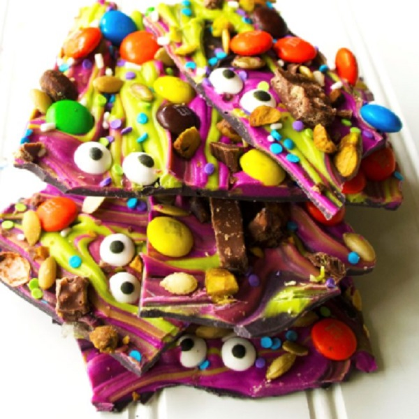 Monster Mash Halloween Toffee Bark