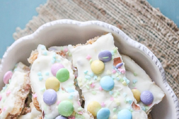 Easter Toffee Bark