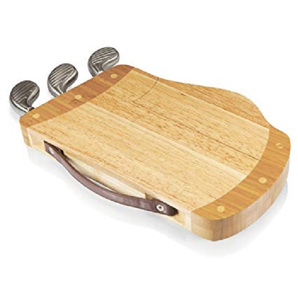 Golf Caddy Cheese Board and Tool Set