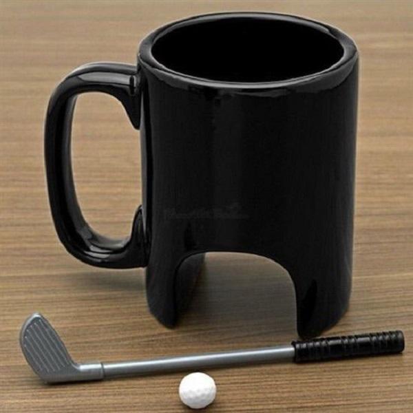 Golf Hole Coffee Mug (With Mini Putter)
