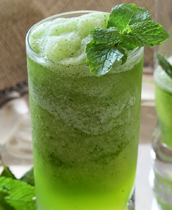 Middle Eastern Frozen Mint Lemonade